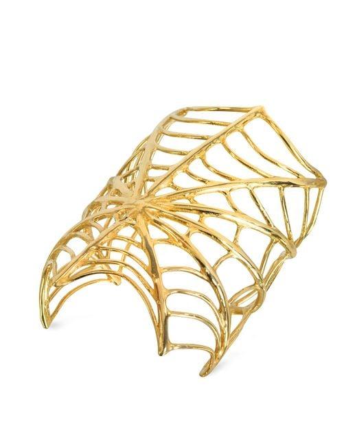 Bernard Delettrez - Metallic Giant Spiderweb Bronze Cuff Bracelet - Lyst