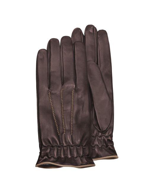 Forzieri - Brown Herren-Handschuhe aus Kalbsleder mit Kaschmirfutter for Men - Lyst
