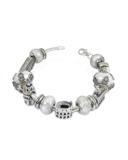 Tedora - Metallic Sterling Silver Italian Journey Bracelet - Lyst