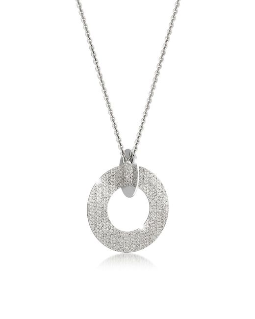 Rebecca - Metallic R-zero Rhodium Over Bronze And Steel Long Necklace - Lyst