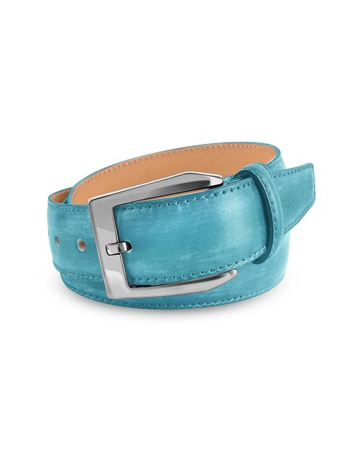 Pakerson - Men's Sky Blue Hand Painted Italian Leather Belt - Lyst