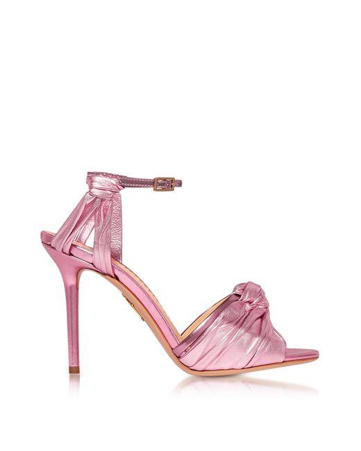 Charlotte Olympia   Broadway Party Pink Metallic Nappa Sandal   Lyst