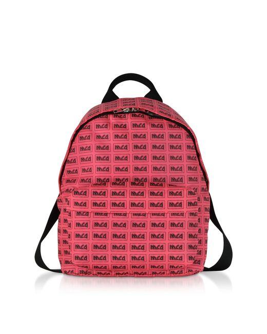 McQ Alexander McQueen - Neon Pink Metal Repeat Logo Backpack - Lyst