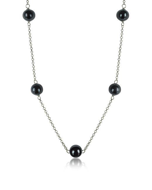 Antica Murrina - Metallic Perleadi Black Murano Glass Beads Necklace - Lyst