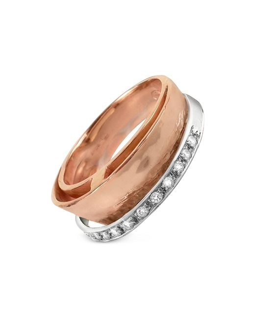 Torrini - Metallic Tama - Diamond Channel 18k Rose Gold Band Ring - Lyst