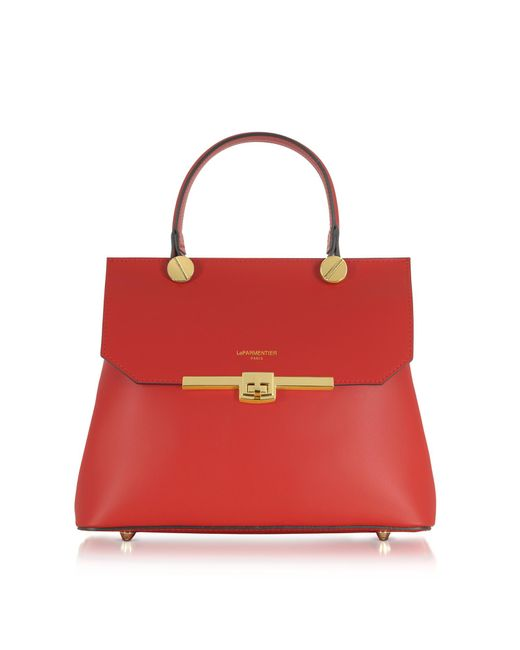 Le Parmentier - Red Atlanta Top Handle Satchel Bag - Lyst
