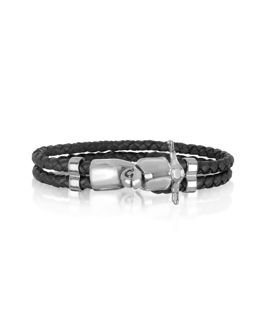 Forzieri | Metallic Vespa Stainless Steel And Leather Men's Bracelet for Men | Lyst