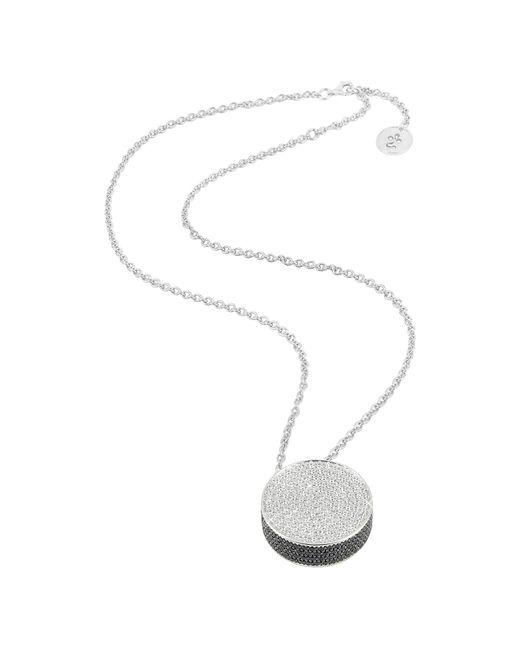 Azhar | Multicolor Zircon Disc Pendant Necklace | Lyst