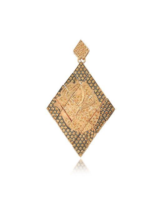 Azhar | Multicolor Rosa Silver And Zircon Mono Earring | Lyst