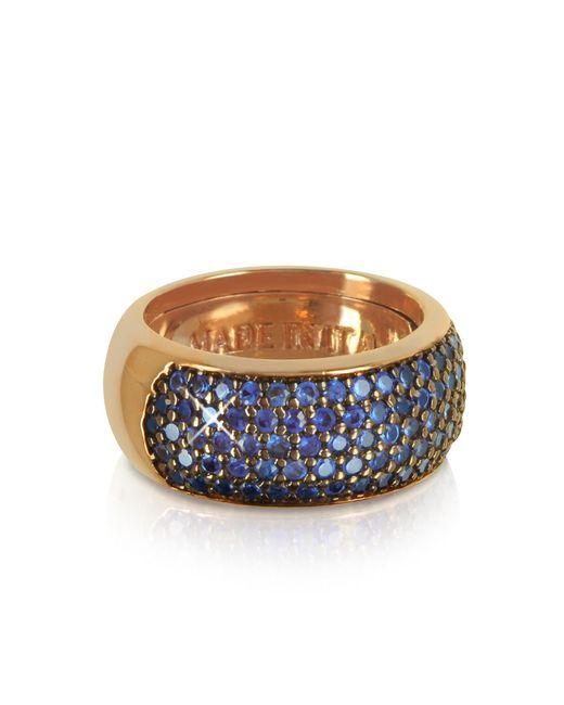 Azhar | Pink Blue Cubic Zirconia Silver Vermeil Ring | Lyst