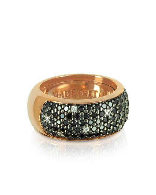Azhar   Pink Black Cubic Zirconia Silver Vermeil Ring   Lyst