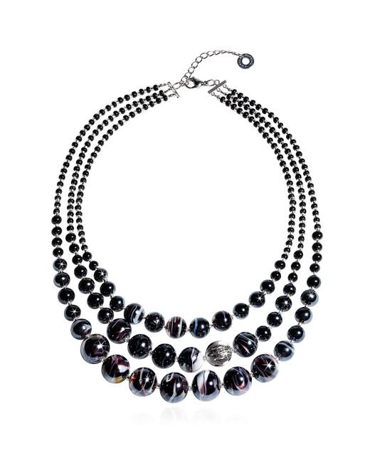 Antica Murrina | Optical 1 Top - Black Murano Glass Choker | Lyst