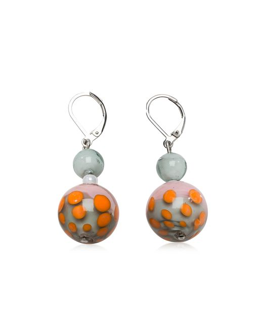 Antica Murrina | Papaya 1 Orange And Multicolor Murano Glass Earrings | Lyst