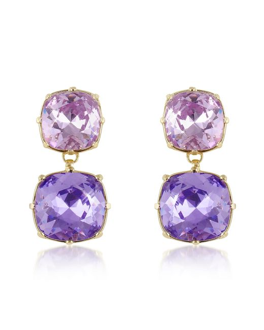 AZ Collection | Purple Clip-on Drop Earrings | Lyst