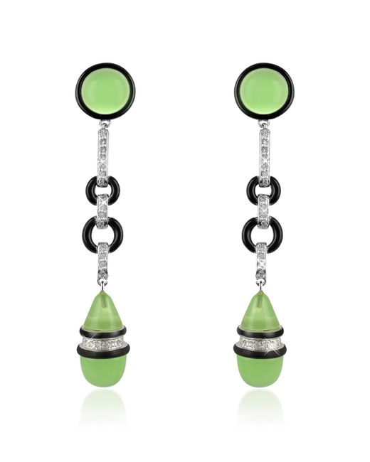 AZ Collection | Green Jade Drop Clip-on Earrings | Lyst