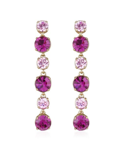 AZ Collection | Pink & Amethyst Drop Earrings | Lyst