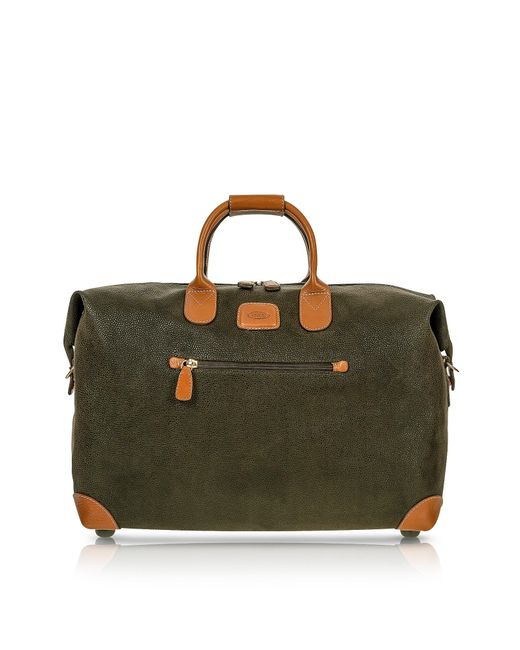 Bric's | Life - Olive Green Micro Suede 18'' Carry-on Holdall for Men | Lyst