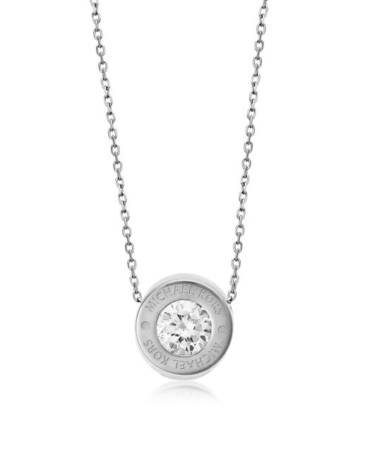 Michael Kors | Metallic Brilliance Stainless Steel And Crystal Necklace | Lyst