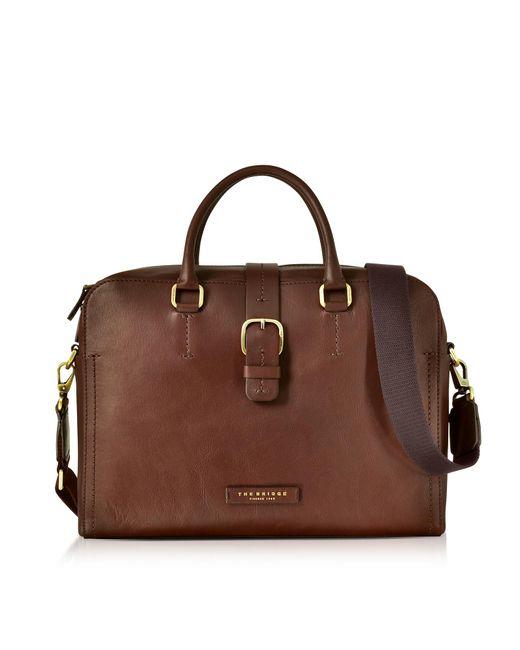 The Bridge | Dark Brown Leather Double Handle Briefcase W/detachable Shoulder Strap for Men | Lyst