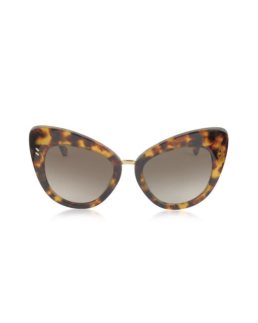 Stella McCartney - Brown Sc0037s Acetate Cat Eye Women's Sunglasses - Lyst