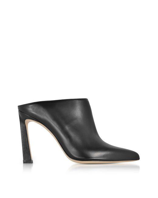 Stuart Weitzman - Camila Black Nappa Leather High Heel Mules - Lyst