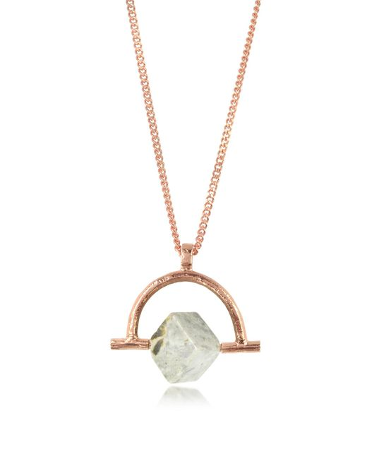 Bjorg - Metallic Wonder Wander Agate Stone Women's Necklace - Lyst