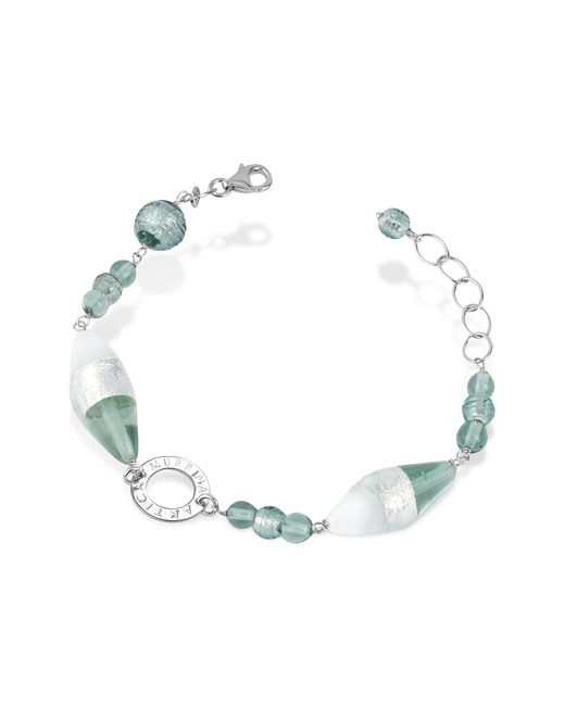 Antica Murrina | Gray Liberty - Murano Glass Bead Sterling Silver Bracelet | Lyst