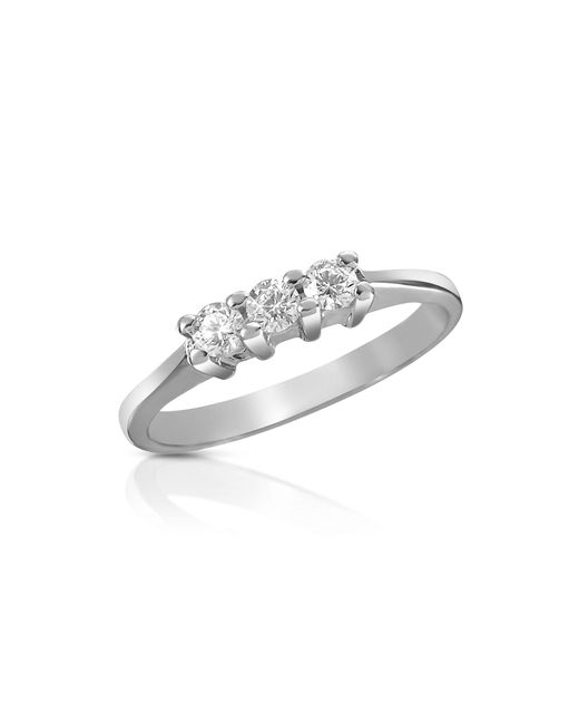 Forzieri - Multicolor 0.10 Ct Three-stone Diamond 18k Gold Ring - Lyst