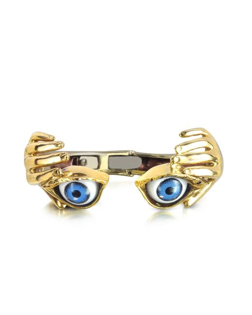 Bernard Delettrez | Metallic Bronze Hand Stiff Bracelet With Eye | Lyst