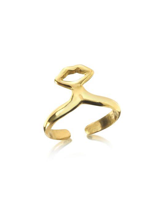 Bernard Delettrez | Metallic Small Bronze Midi Ring W/mouth | Lyst