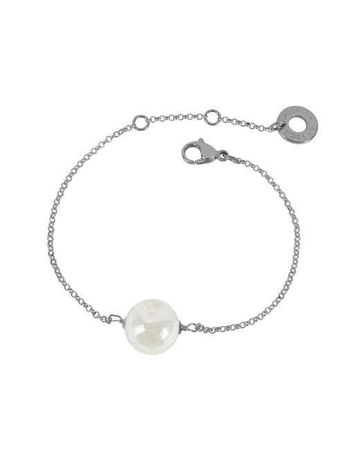 Antica Murrina | Perleadi White Murano Glass Bead Chain Bracelet | Lyst