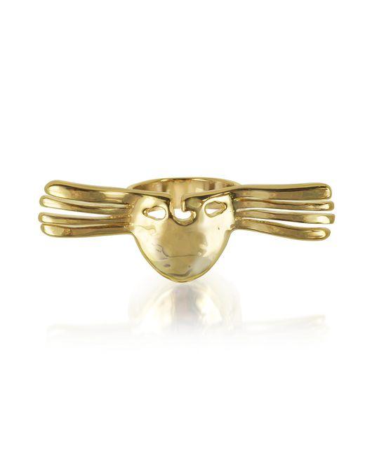 Aurelie Bidermann - Metallic Melina Winged Mask Ring - Lyst