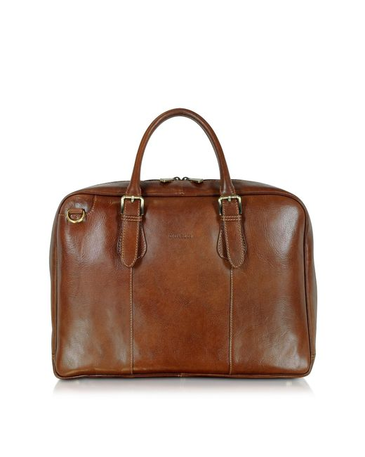 Chiarugi | Brown Double Handle Leather Briefcase for Men | Lyst
