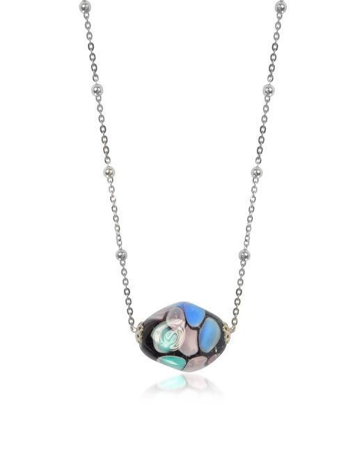 Antica Murrina | Blue Smeralda Glass Beads Sterling Silver Necklace | Lyst