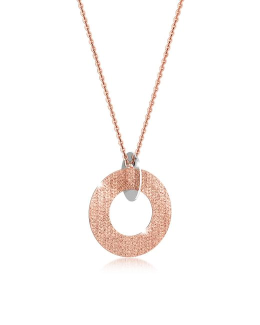 Rebecca | Pink R-zero Rose Gold Over Bronze And Steel Long Necklace | Lyst
