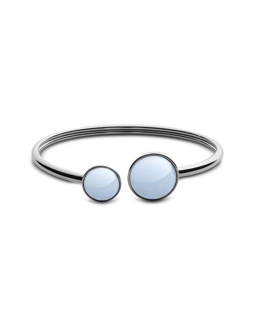 Skagen - Metallic White Sea Glass Silver Tone Women's Bracelet - Lyst