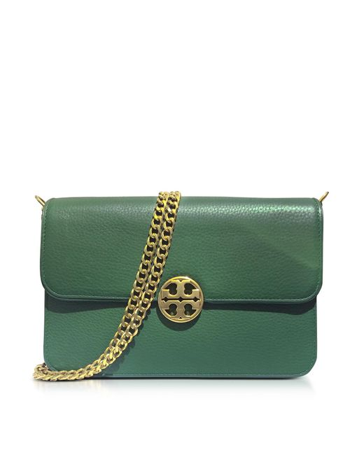 Tory Burch | Green Chelsea Leather Shoulder Bag | Lyst