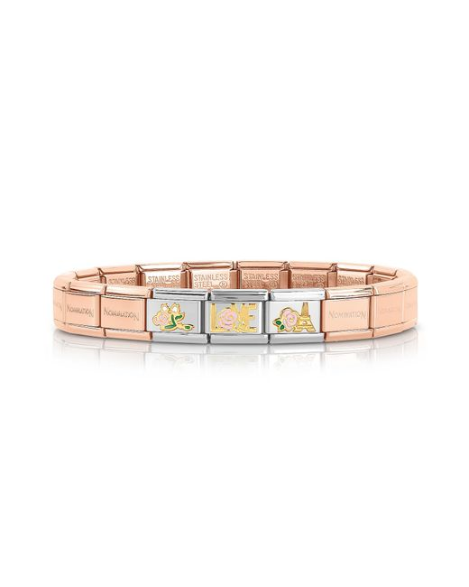 Nomination - Pink La Vie En Rose Gold Pvd Stainless Steel Bracelet - Lyst