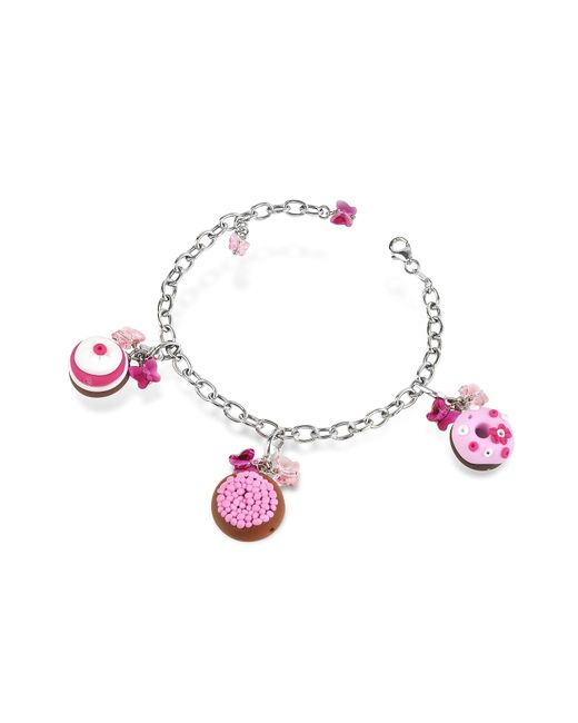 Dolci Gioie | Pink Sterling Silver Detachable Charm Bracelet | Lyst