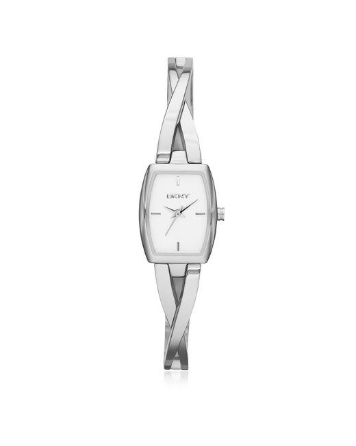 DKNY - Metallic Crosswalk Silver Tone Stainless Steel Women's Watch - Lyst
