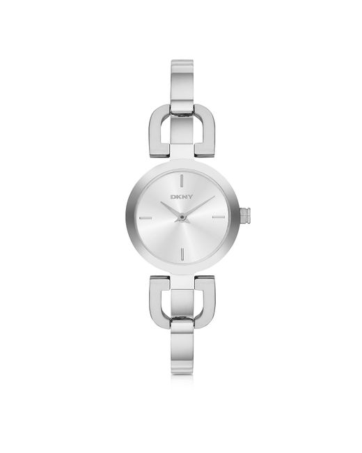 DKNY - Metallic Reade Silver Tone Stainless Steel Women's Watch - Lyst