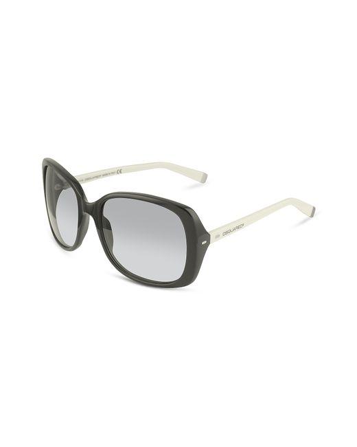 DSquared² | Black Signature Acetate Square Frame Sunglasses | Lyst