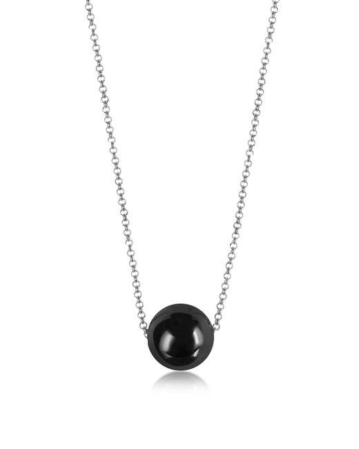 Antica Murrina - Metallic Perleadi Black Murano Glass Bead Chain Necklace - Lyst