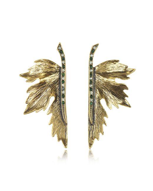 Alcozer & J - Metallic Nymph Goldtone Brass Earrings - Lyst