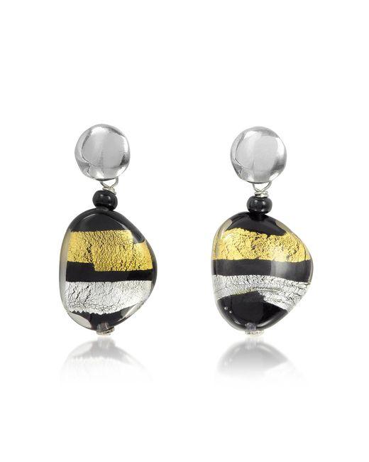 Antica Murrina - Metallic Moretta Pastel Glass Beads W/24kt Gold And Silver Leaf Earrings - Lyst