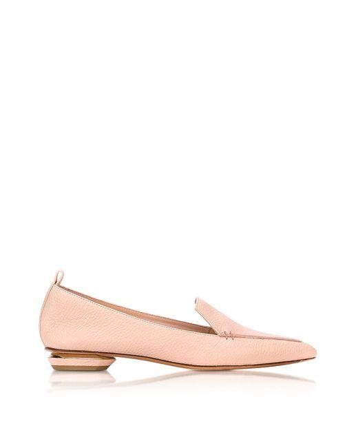 Nicholas Kirkwood - Beya Powder Pink Leather Loafer - Lyst