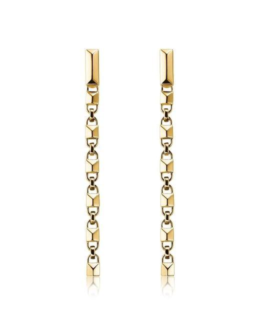 Michael Kors Metallic Mercer Link Sterling Silver Drop Earrings