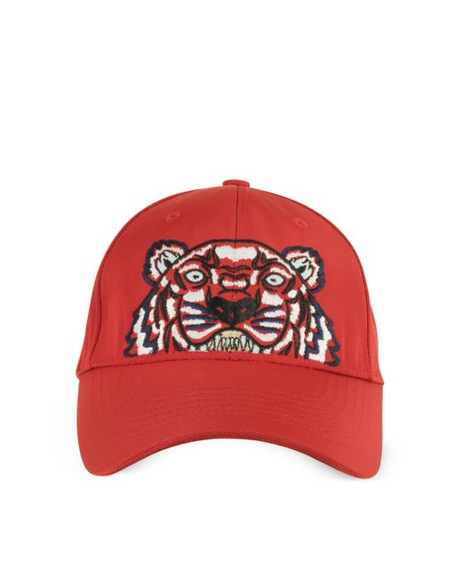 d0f42c9d909 Kenzo Tiger Baseball Cap in Red for Men - Save 31.764705882352942 ...