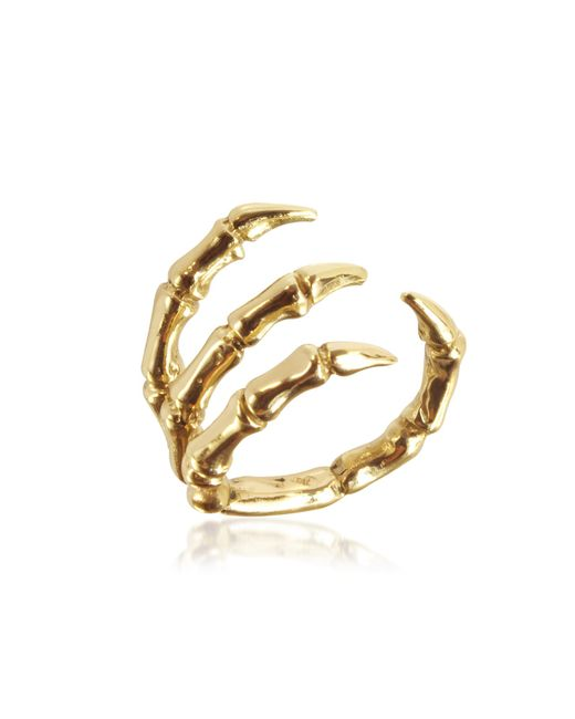 Bernard Delettrez - Metallic Golden Brid Claw Bronze Ring - Lyst