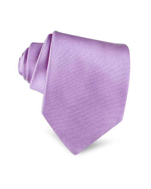 Forzieri - Purple Lilac Solid Smooth Extra-long Pure Silk Tie for Men - Lyst